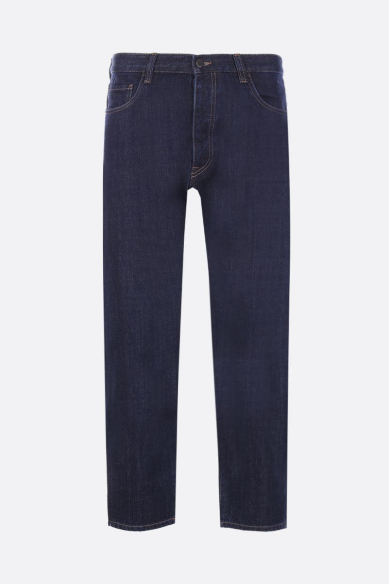 PRADA: jeans baggy-fit con logo triangolo Colore Blu_1