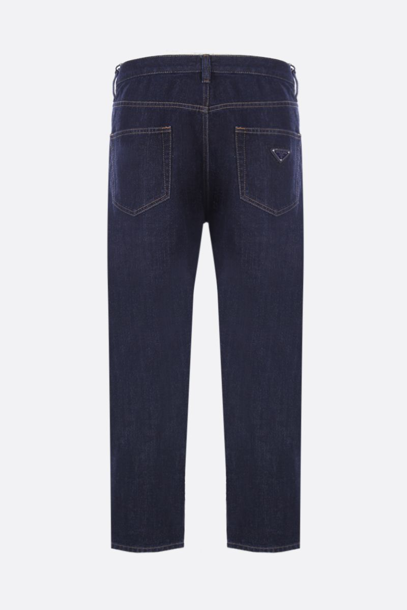 PRADA: jeans baggy-fit con logo triangolo Colore Blu_2
