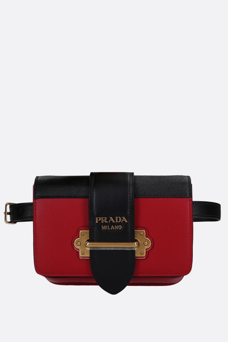 PRADA: Prada Cahier belt bag in City and Saffiano leather Color Multicolor_1