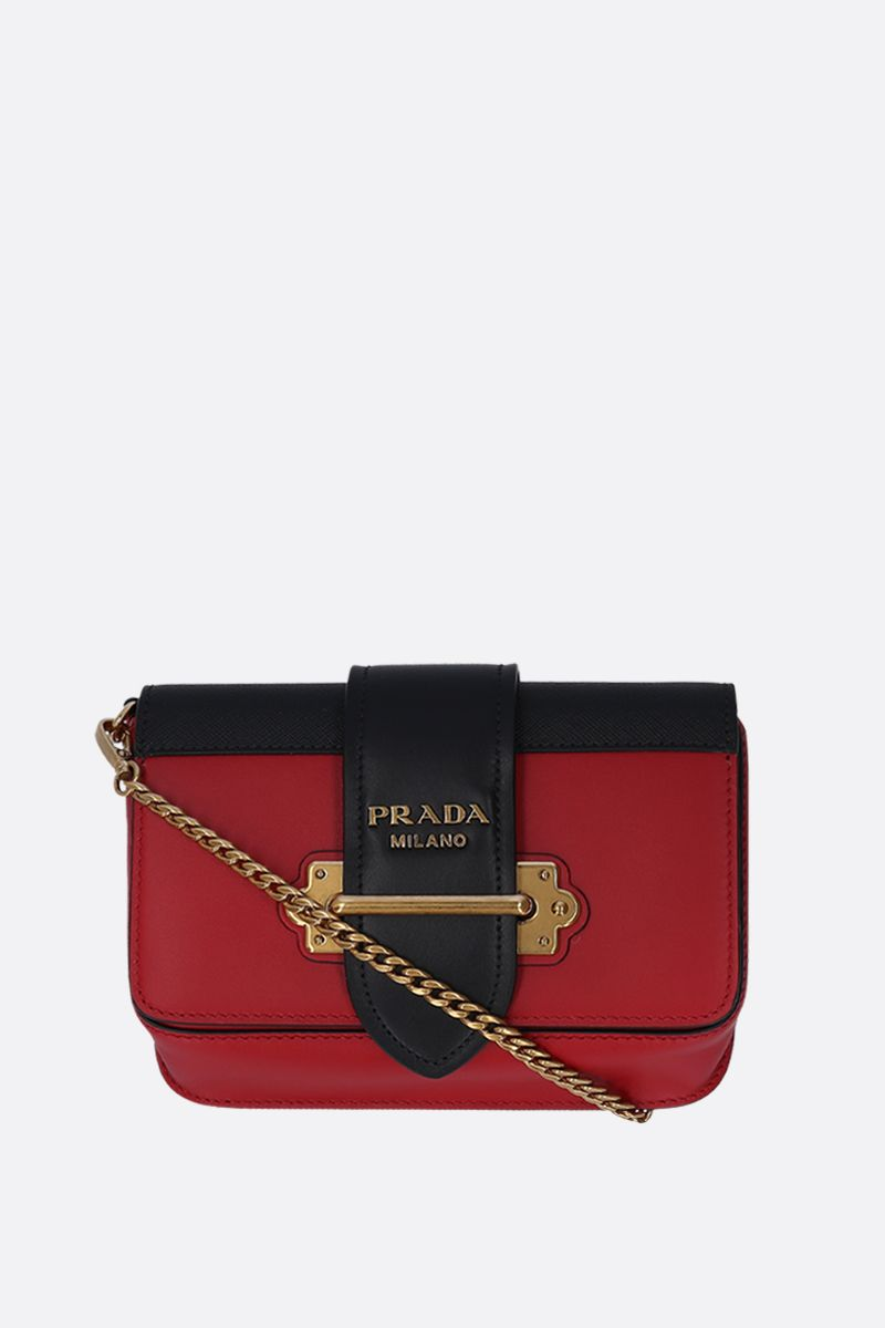 PRADA: Prada Cahier belt bag in City and Saffiano leather Color Multicolor_2