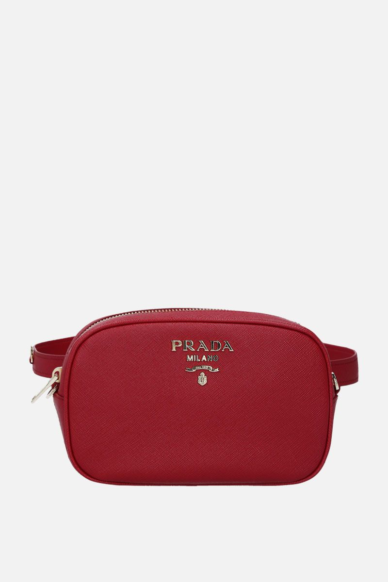 PRADA: Saffiano leather belt bag Color Red_1