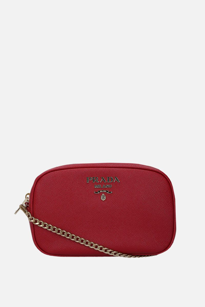 PRADA: Saffiano leather belt bag Color Red_2