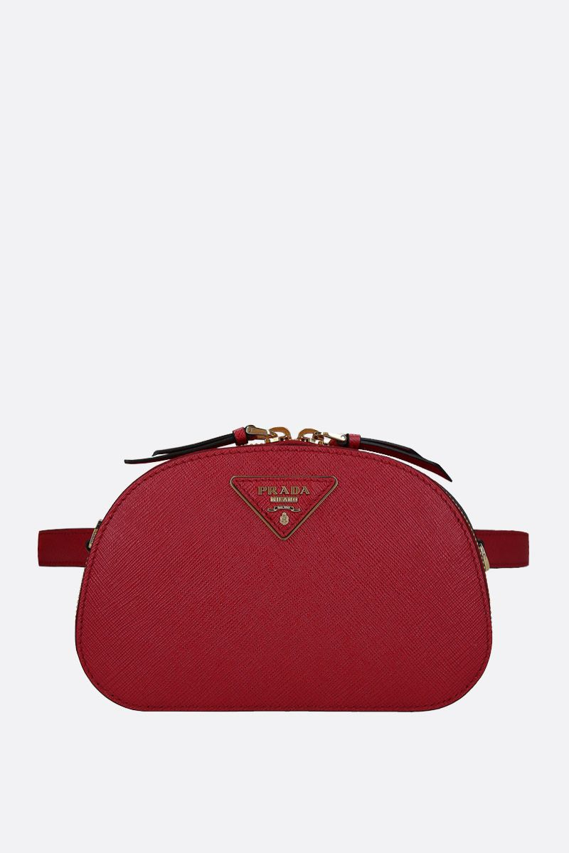 PRADA: Prada Odette belt bag in Saffiano leather Color Red_1