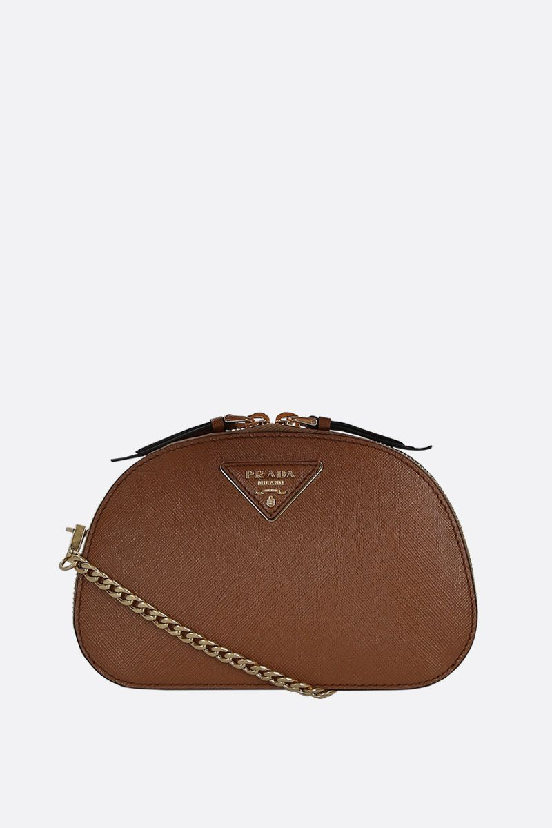 PRADA: Prada Odette belt bag in Saffiano leather Color Brown_2