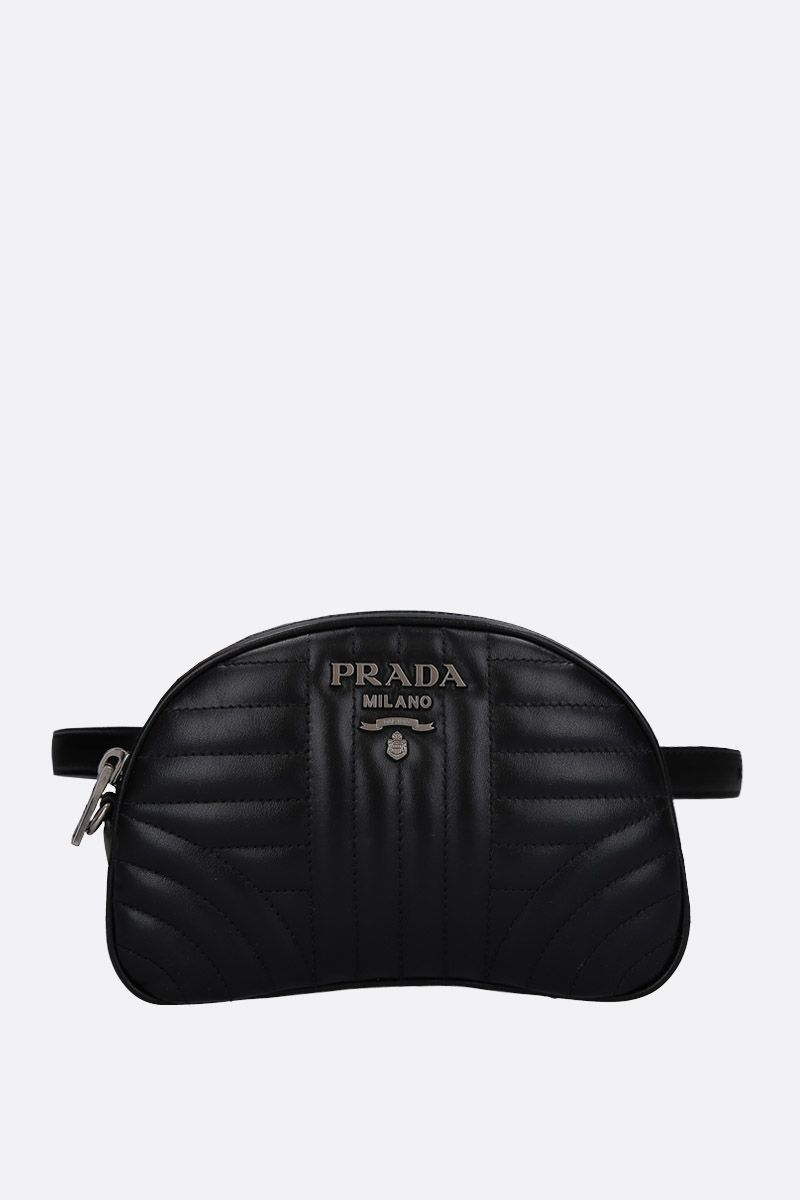 PRADA: quilted leather belt bag Color Black_1