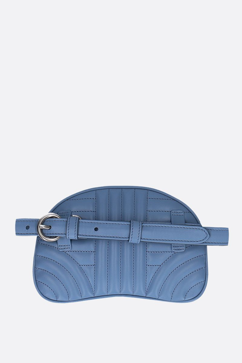 PRADA: quilted leather belt bag Color Blue_4