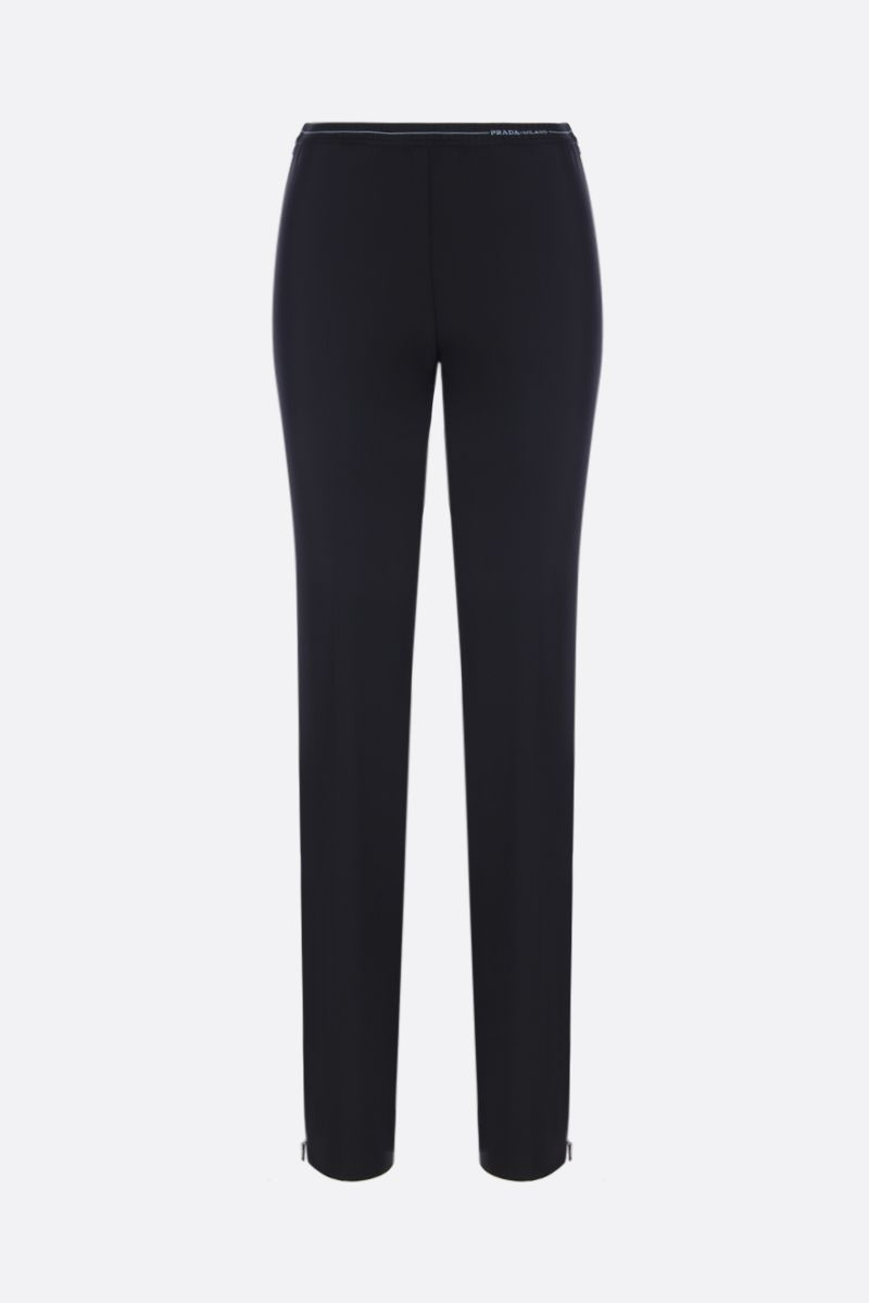 PRADA: stretch technical fabric skinny pants Color Black_1