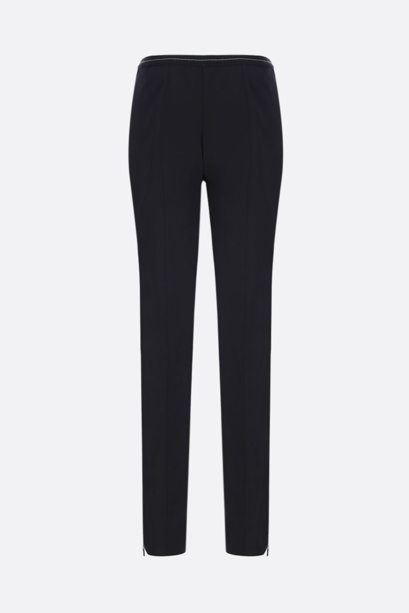 PRADA: stretch technical fabric skinny pants Color Black_2