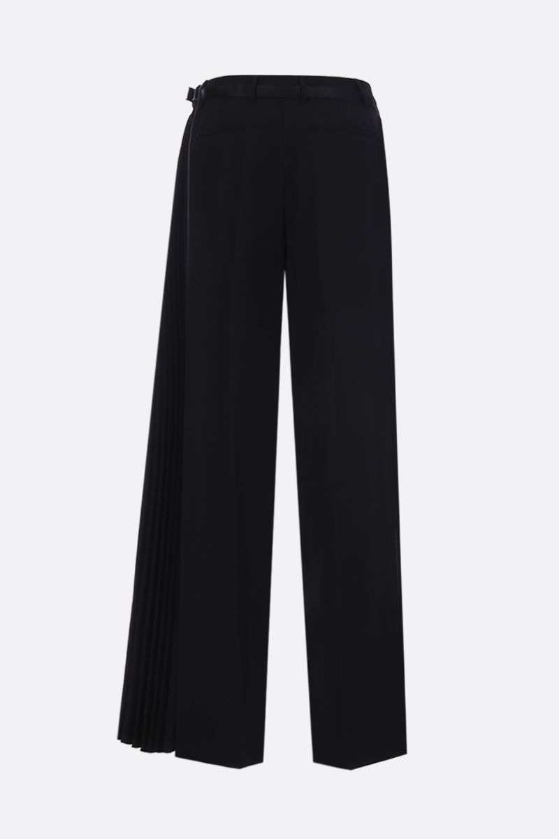 PRADA: technical fabric wide-leg pants with pleated detail Color Black_2