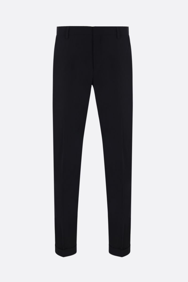 PRADA: technicla twill pants Color Black_1