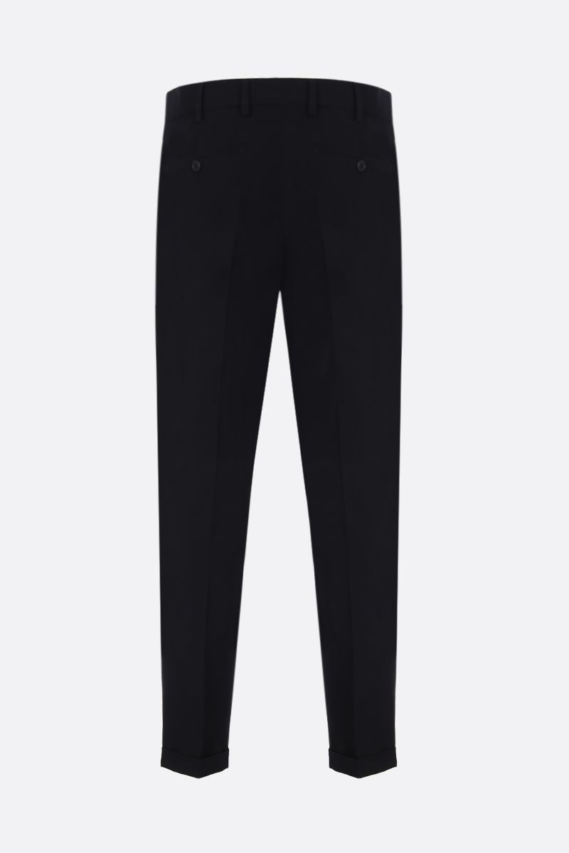 PRADA: technicla twill pants Color Black_2