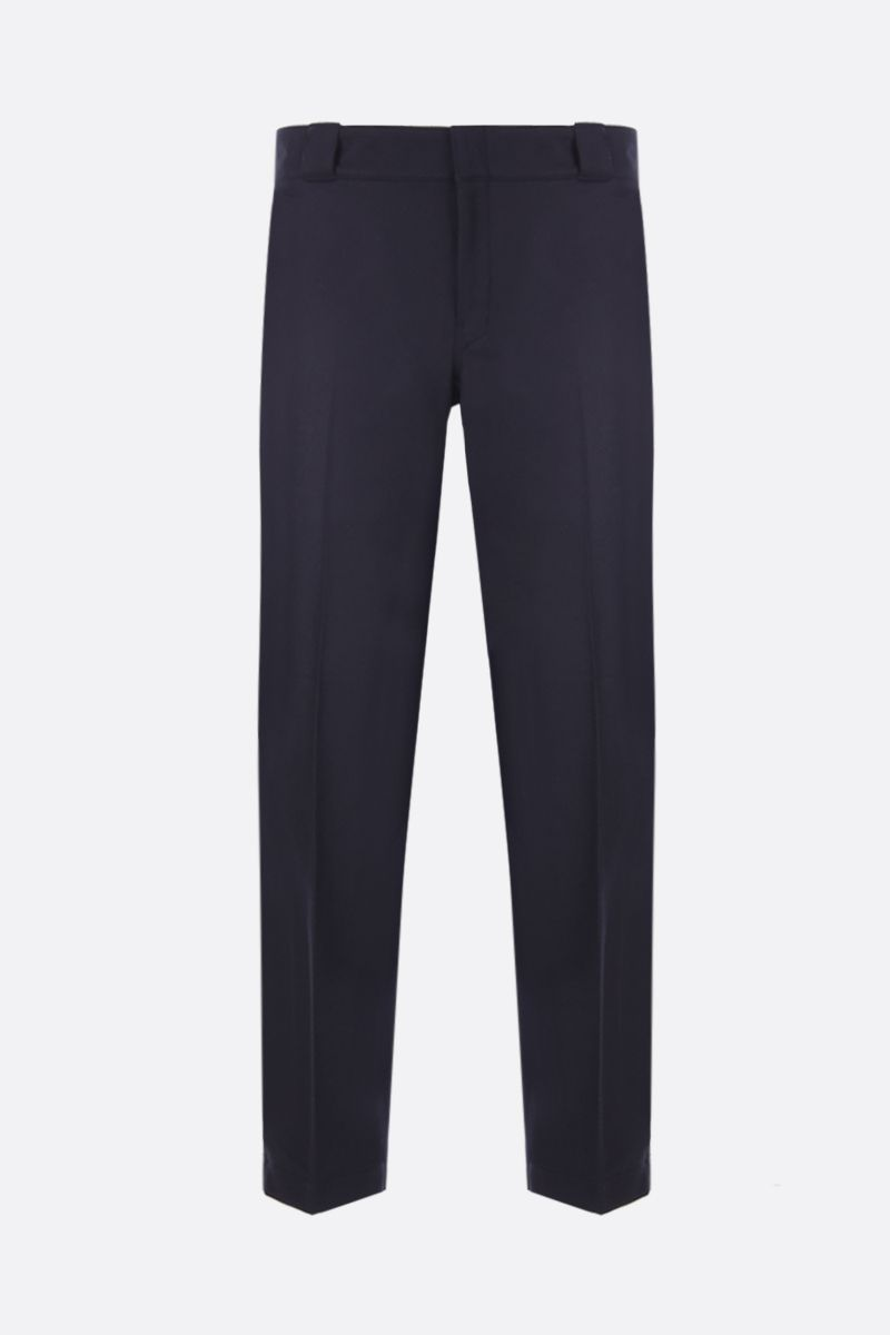 PRADA: flannel slim-fit pants Color Blue_1