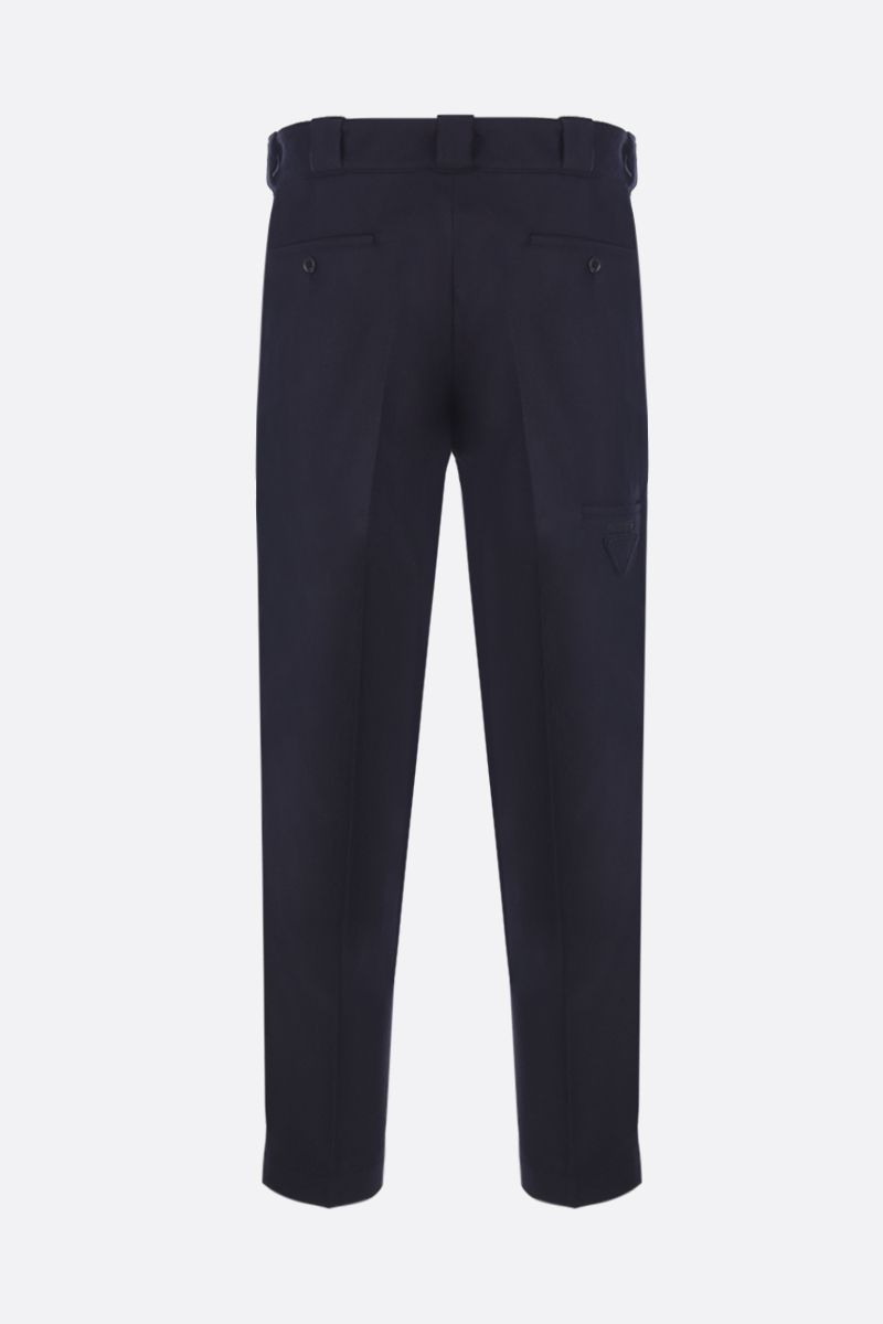 PRADA: flannel slim-fit pants Color Blue_2
