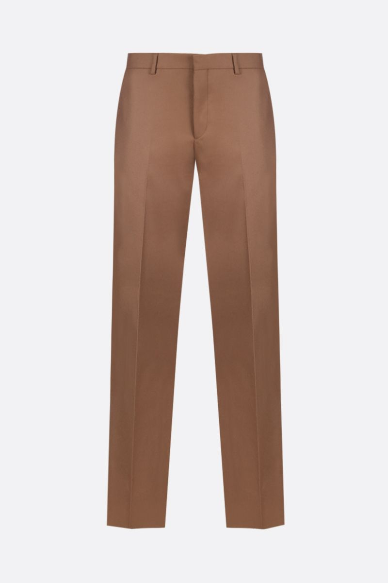 PRADA: flannel slim-fit pants Color Neutral_1