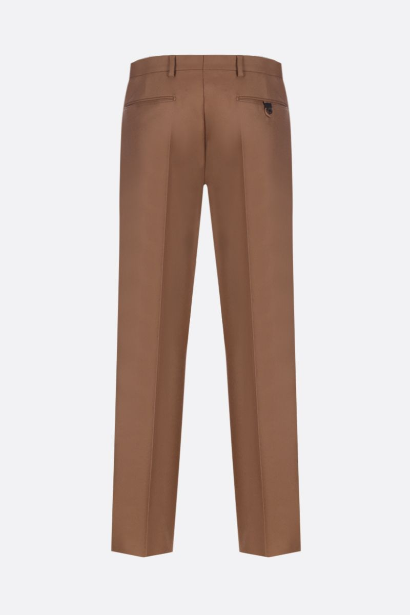 PRADA: flannel slim-fit pants Color Neutral_2