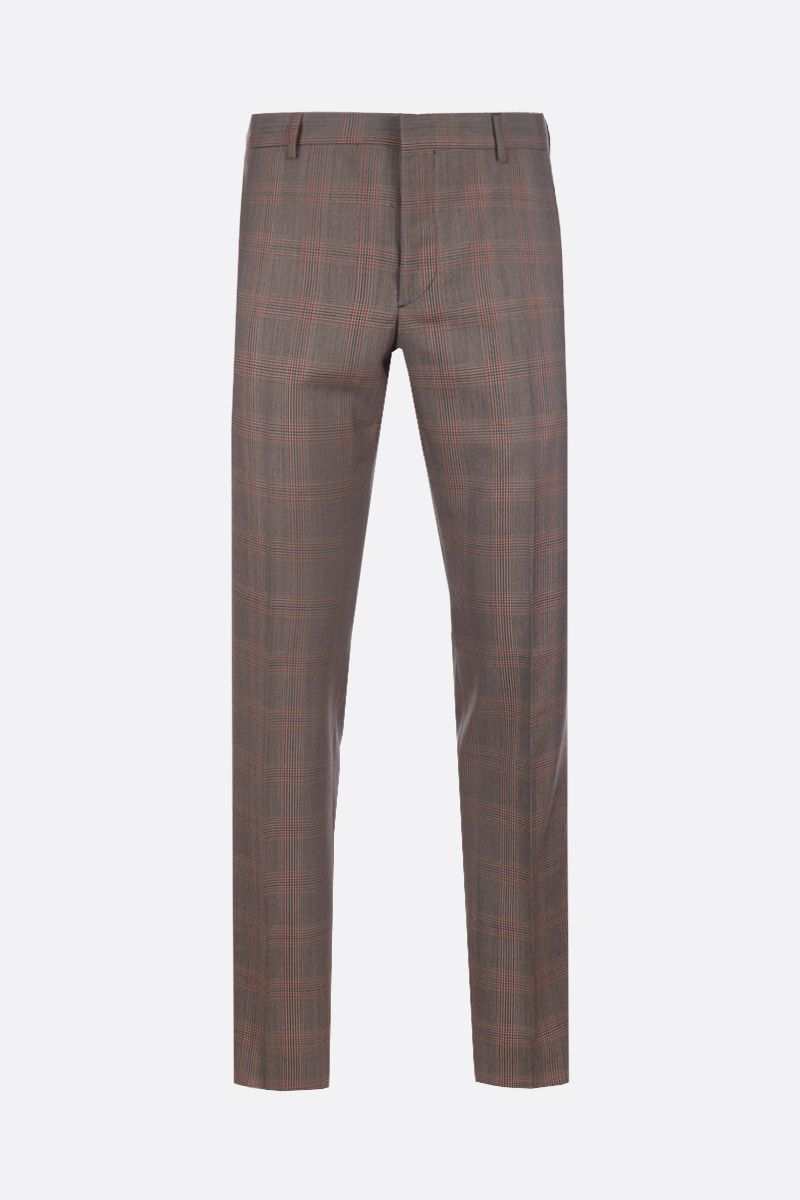 PRADA: prince of Wales wool pants Color Brown_1
