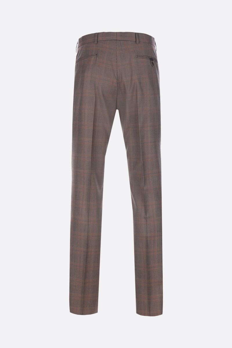 PRADA: prince of Wales wool pants Color Brown_2