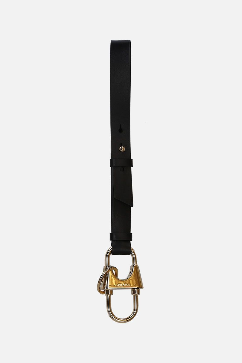 PRADA: City leather key holder Color Black_1
