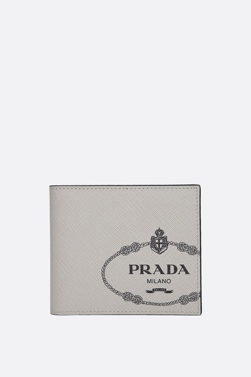 PRADA: Saffiano leather billfold wallet Color Multicolor_1