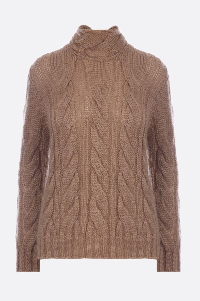 PRADA: mohair and wool blend pullover Color Brown_1