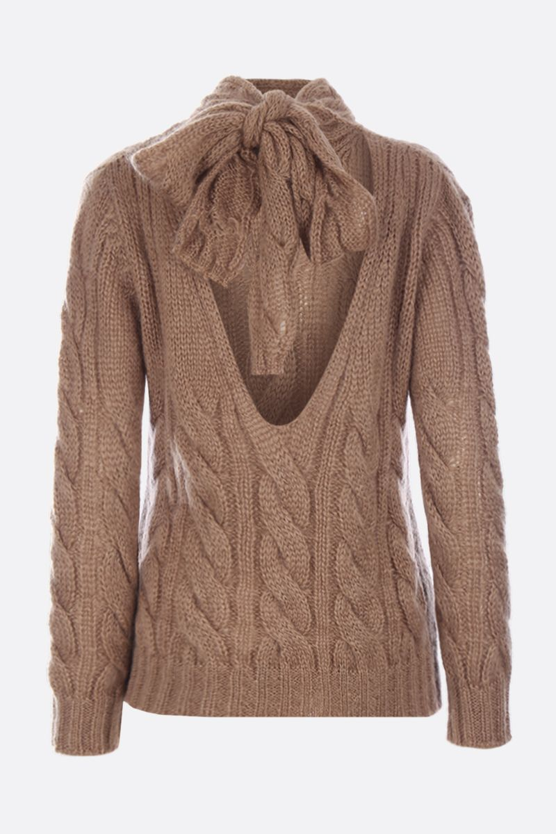PRADA: mohair and wool blend pullover Color Brown_3