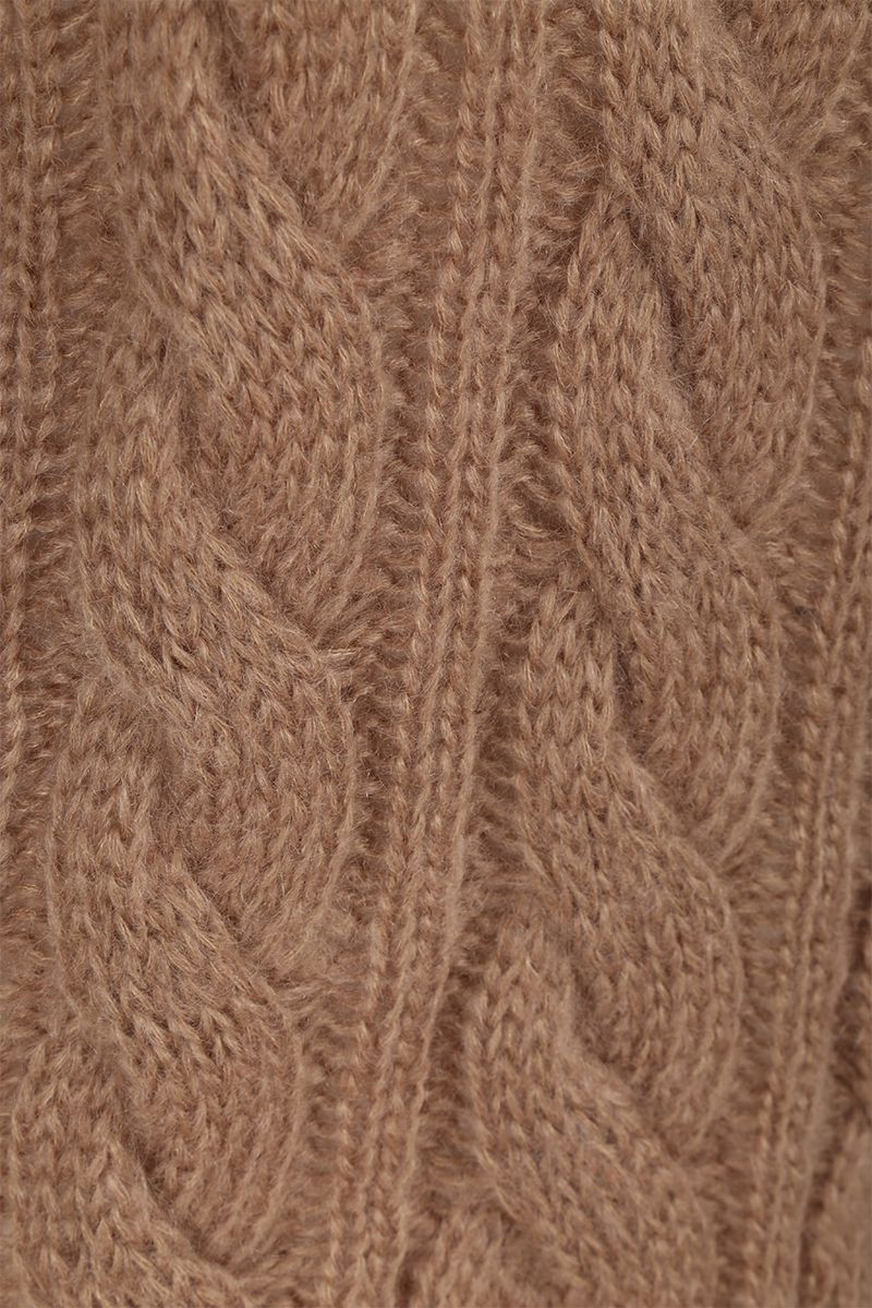 PRADA: mohair and wool blend pullover Color Brown_4