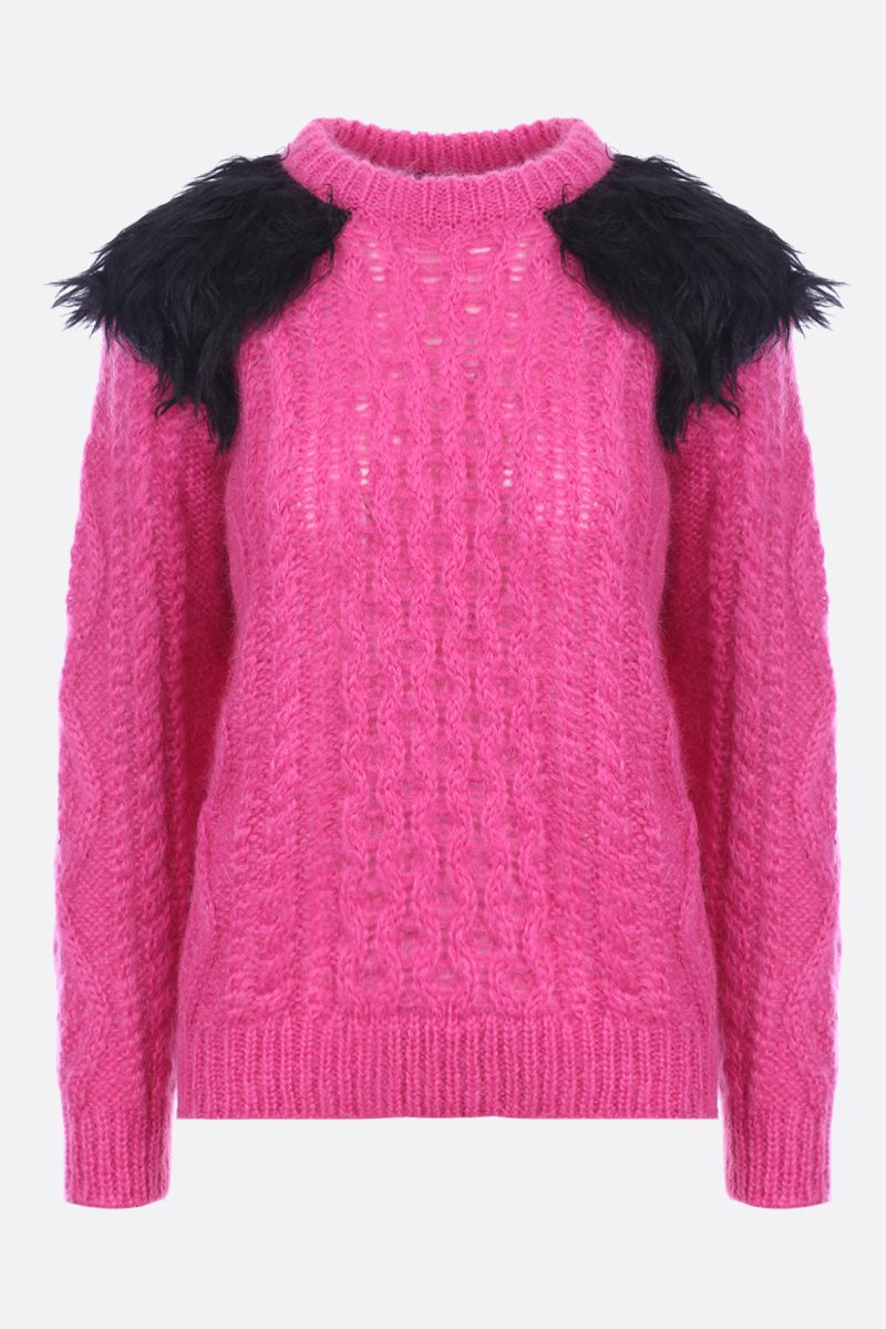 PRADA: mohair blend pullover with contrasting details_1