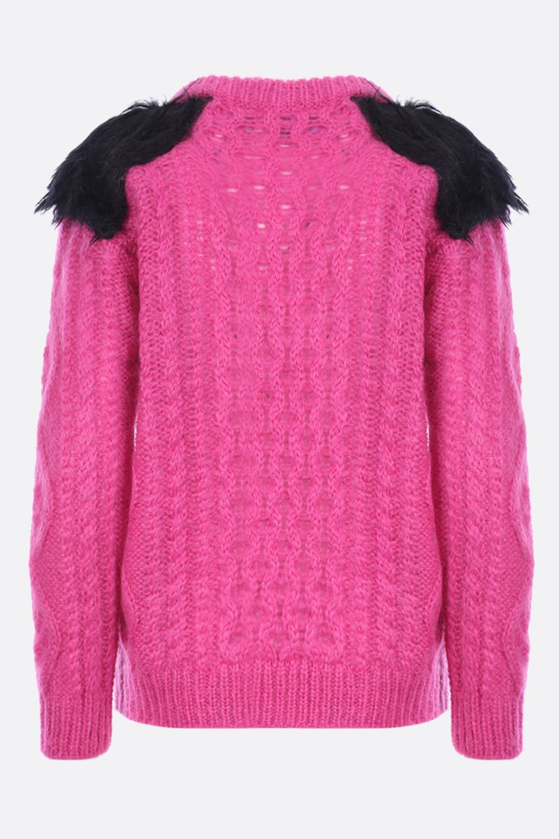 PRADA: mohair blend pullover with contrasting details_2