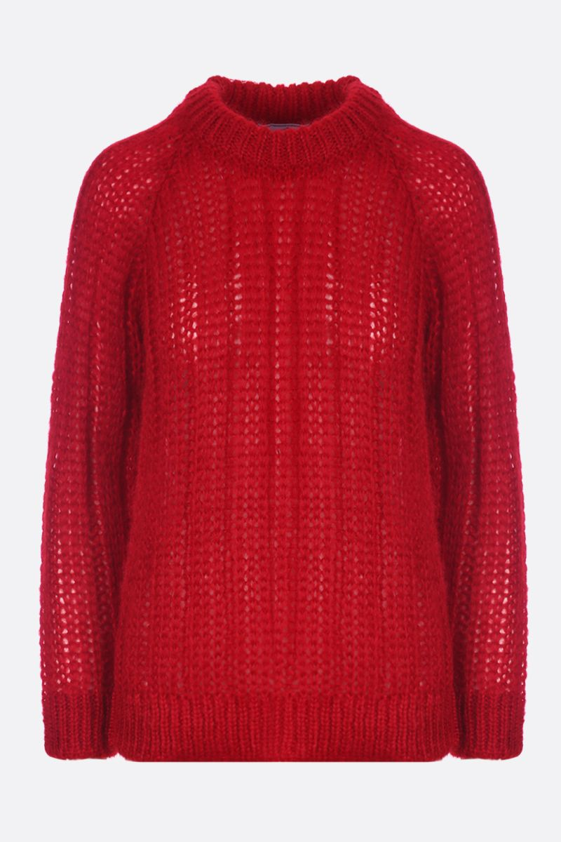 PRADA: mohair blend knit pullover Color Red_1