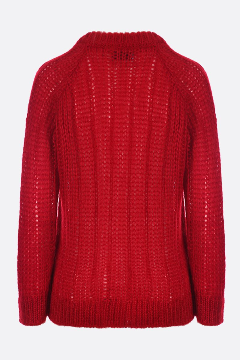 PRADA: mohair blend knit pullover Color Red_2
