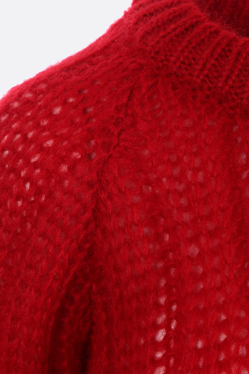 PRADA: mohair blend knit pullover Color Red_3
