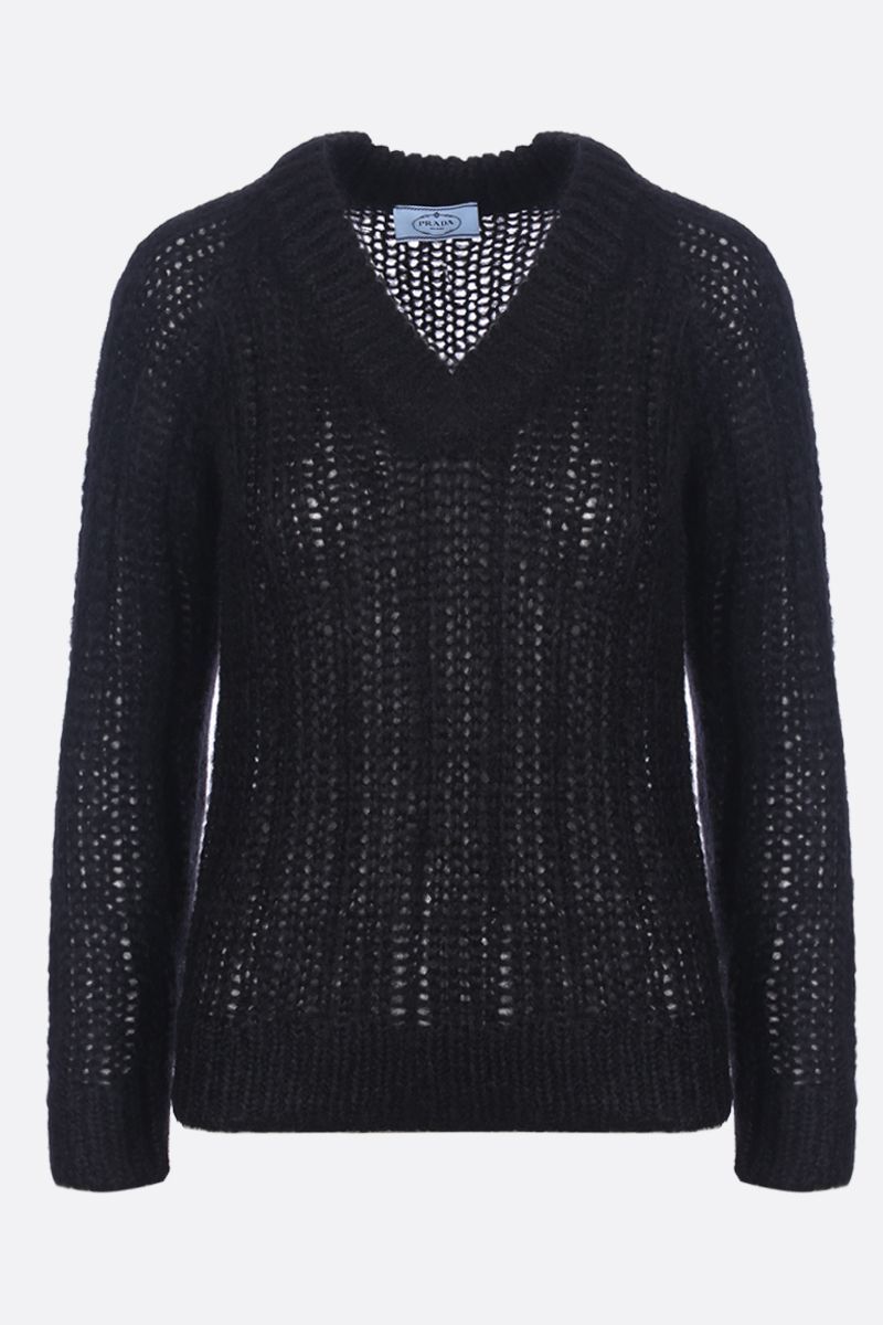 PRADA: mohair blend pullover Color Black_1
