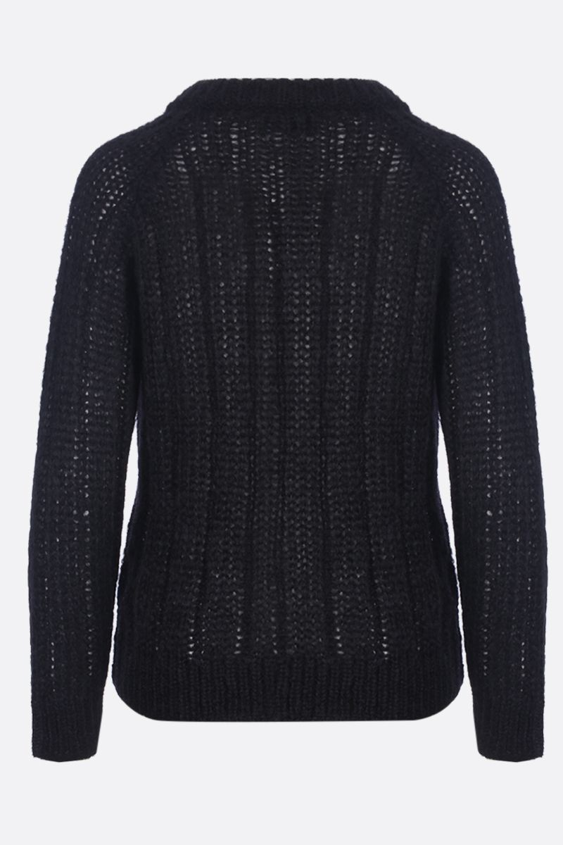 PRADA: mohair blend pullover Color Black_2