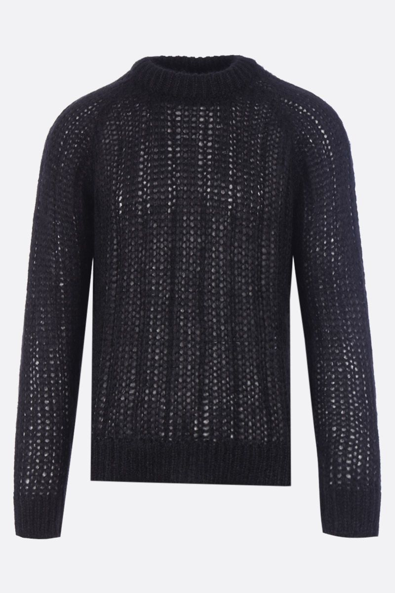 PRADA: mohair blend knit pullover Color Black_1