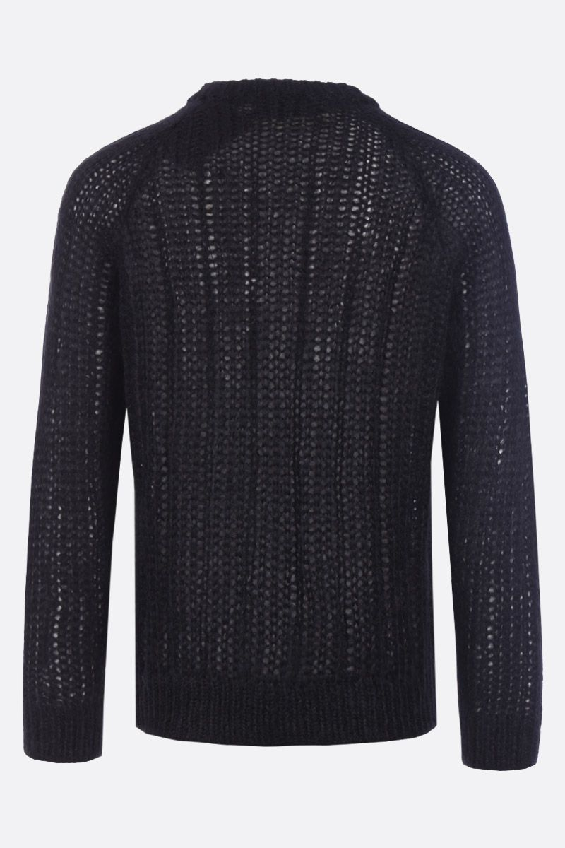 PRADA: mohair blend knit pullover Color Black_2