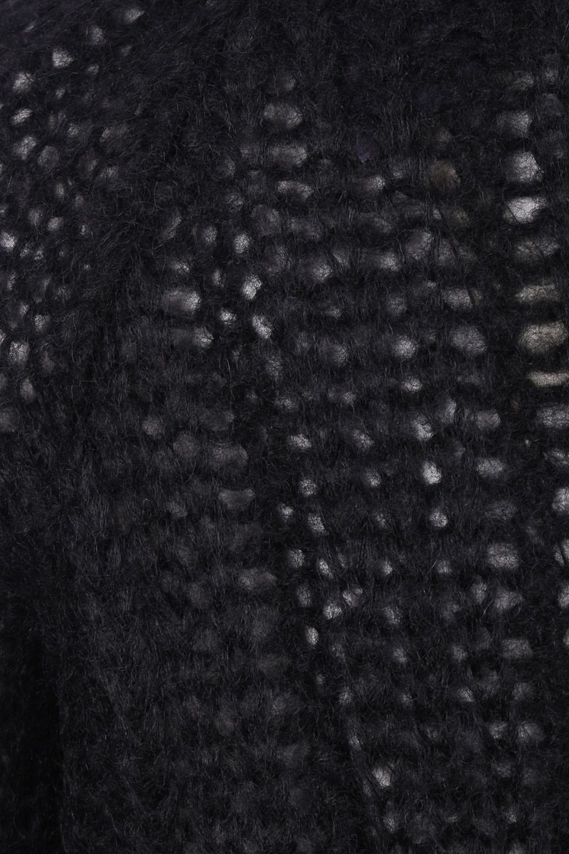 PRADA: mohair blend knit pullover Color Black_3