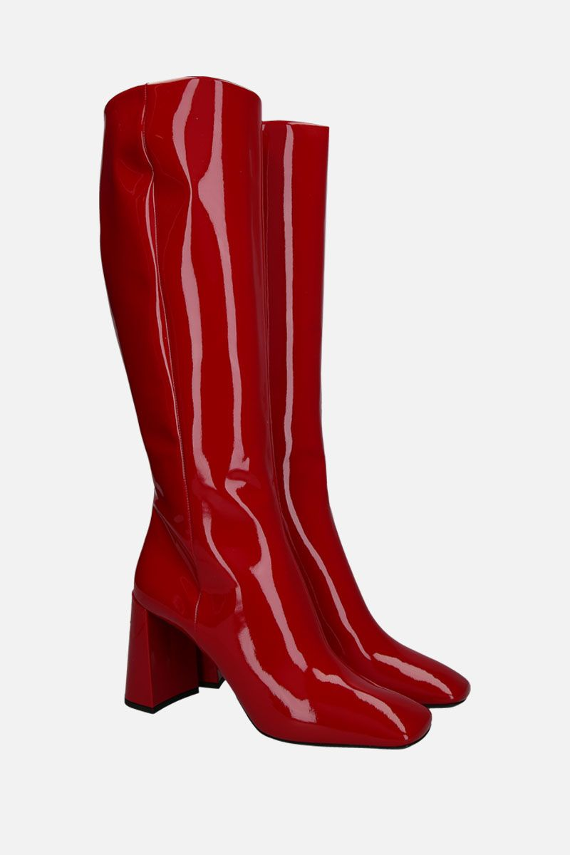 PRADA: patent leather boots Color Red_2