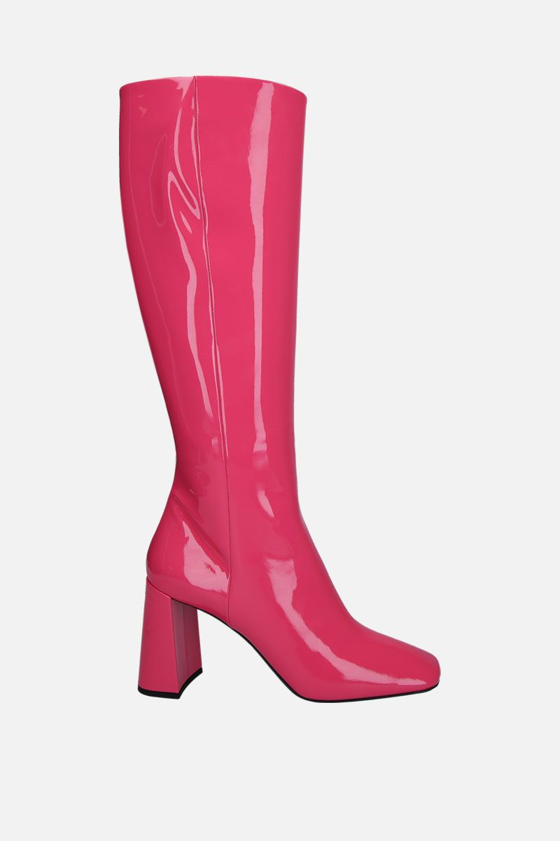 PRADA: patent leather boots Color Pink_1