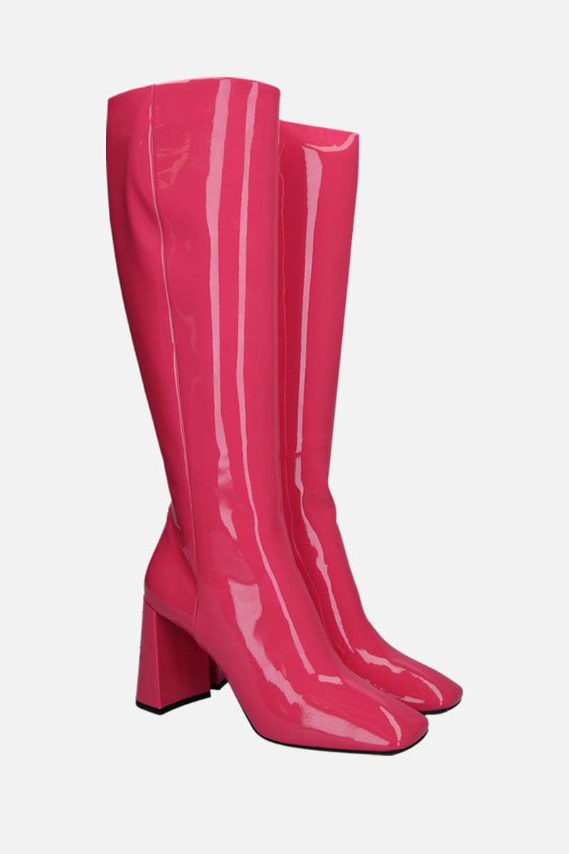 PRADA: patent leather boots Color Pink_2