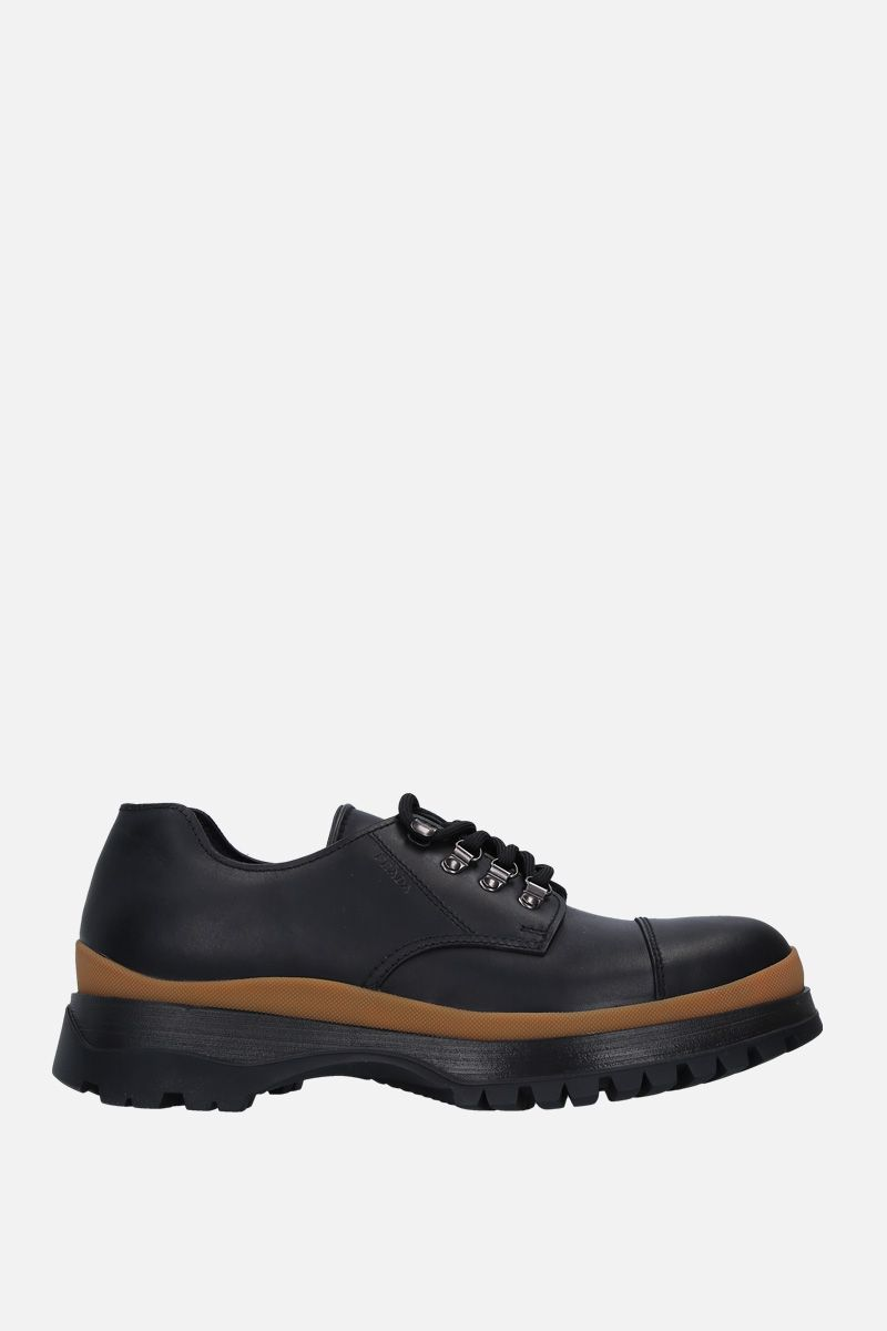 PRADA: smooth leather derby shoes_1