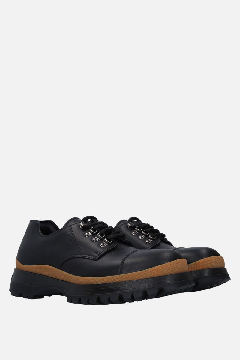 PRADA: smooth leather derby shoes_2