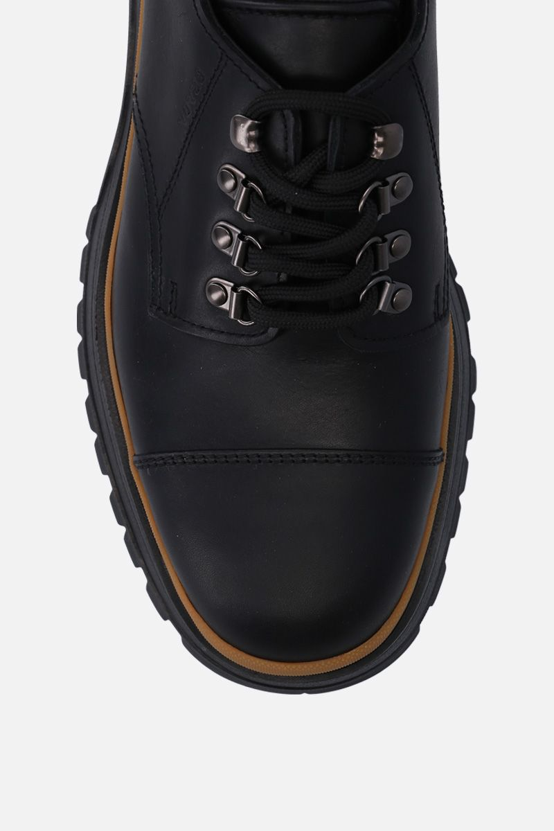 PRADA: smooth leather derby shoes Color Black_4