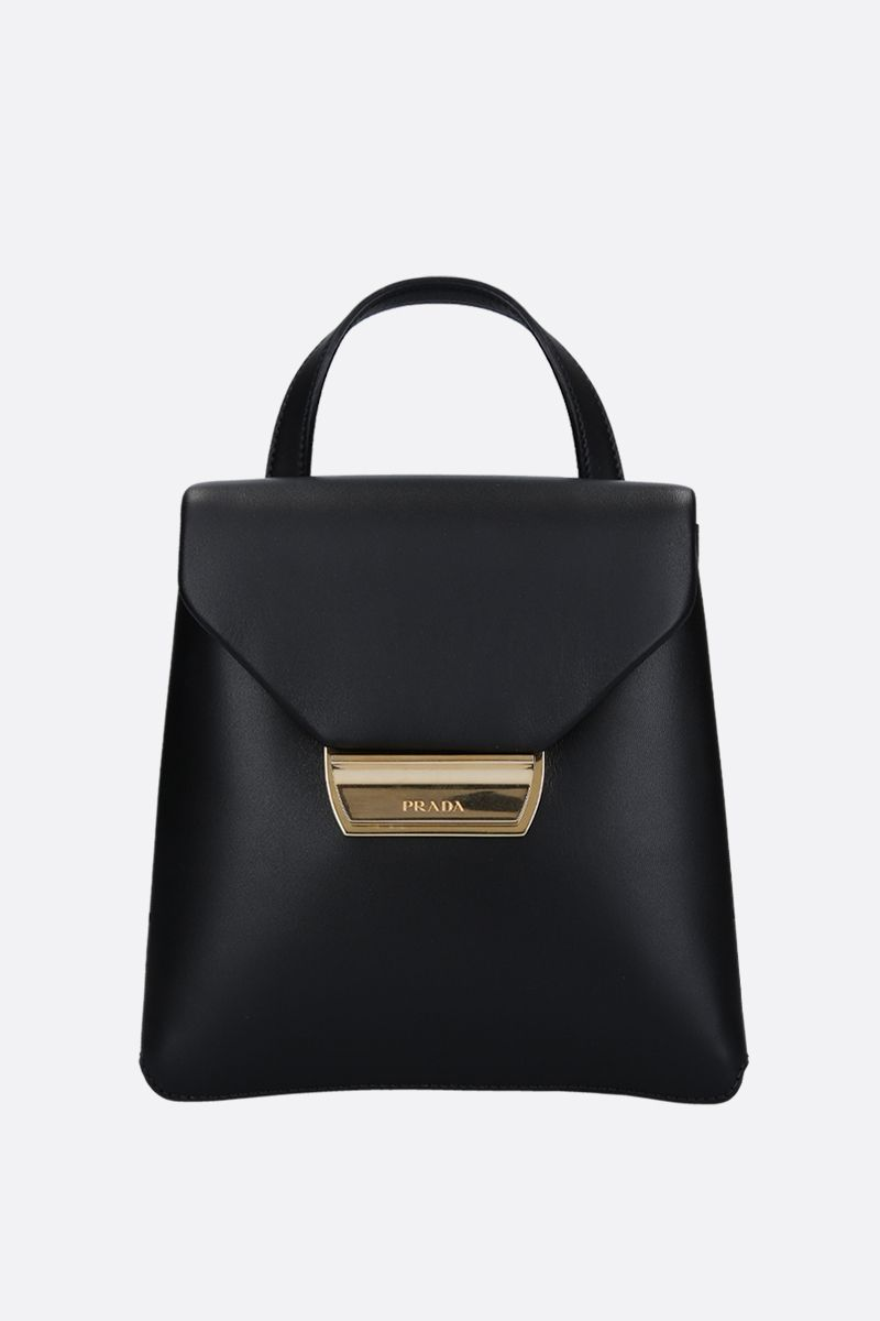 PRADA: smooth leather backpack Color Black_1