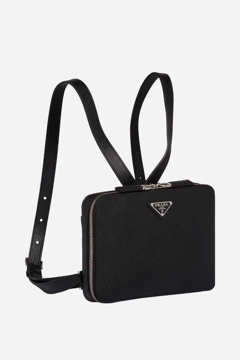 PRADA: Saffiano leather backpack Color Black_2