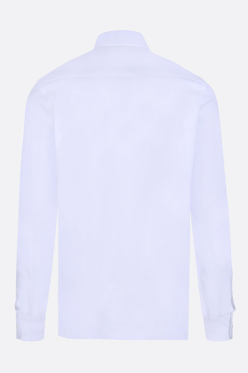 PRADA: stretch poplin slim-fit shirt Color White_2