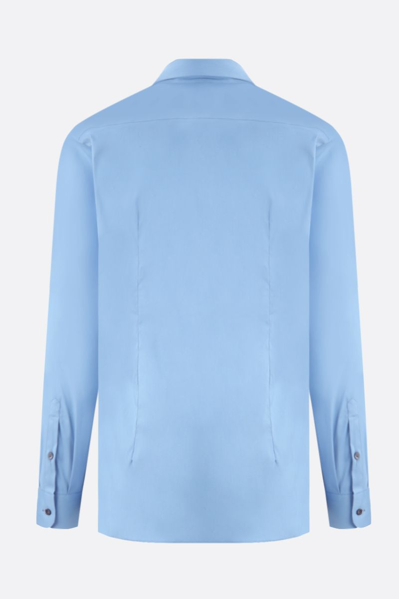 PRADA: stretch poplin slim-fit shirt Color Blue_2