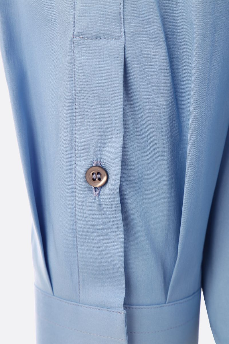 PRADA: stretch poplin slim-fit shirt Color Blue_3