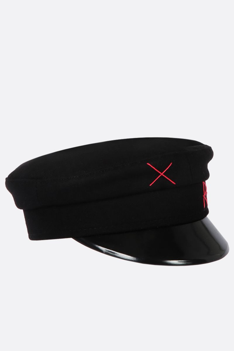 RUSLAN BAGINSKIY: wool baker boy cap Color Black_2