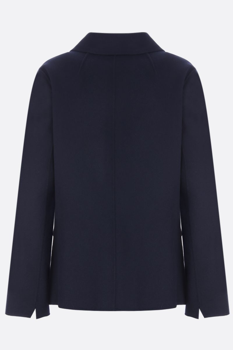 'S MAX MARA: Amedea double-breasted jacket in wool angora blend Color Blue_2