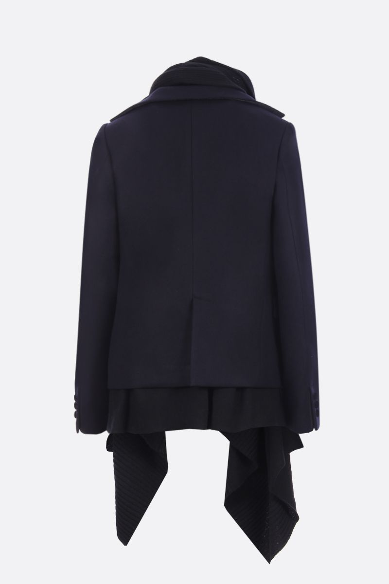 SACAI: Melton fabric single-breasted jacket with asymmetric waistcoat_3